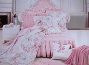 Shabby and Elegant New Pink Cotton 4pc Bedding Duvet Cover Set-king Si